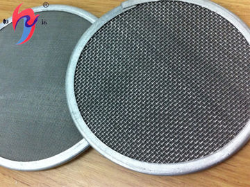 Plain Weave Stainless Steel Wire Mesh Panels , Metal Mesh Fabric 25 50 100 Micron