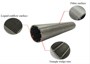 Professional Johnson Wedge Wire Screens , Water Well Screens Stainless Steel