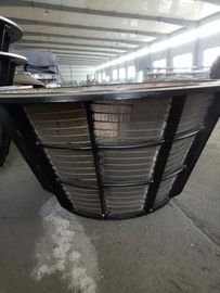 Stainless Steel Centrifugal Sieve Wedge Wire Basket For Mining / Aggregate Industry