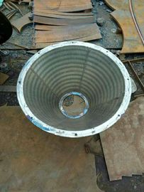 Stainless Steel Basket Strainer , Wedge Wire Screen Filter Baskets Wear Resistant
