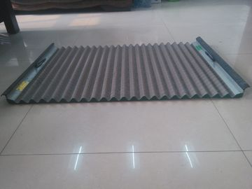 China Durable FLC500 Series Vibrating Screen Wire Mesh 695x1050mm Wave Type supplier
