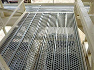 Walkway Protection Perforated Metal Sheet Panels , Non Slip Metal Plate PERF-O-GRIP