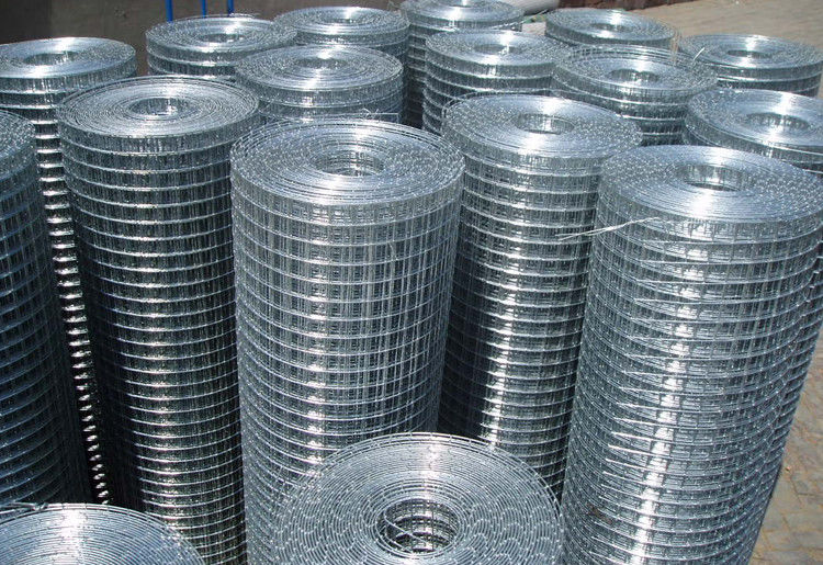 1/2 3/4 1\'\' Hot Dipped Galvanized Welded Wire Mesh Max width 2.5m