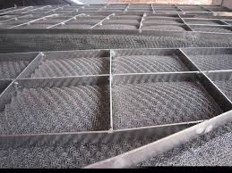 Stainless Steel Wire Mesh Filter Screen , Knitted Woven Metal Mesh 30-200m Length