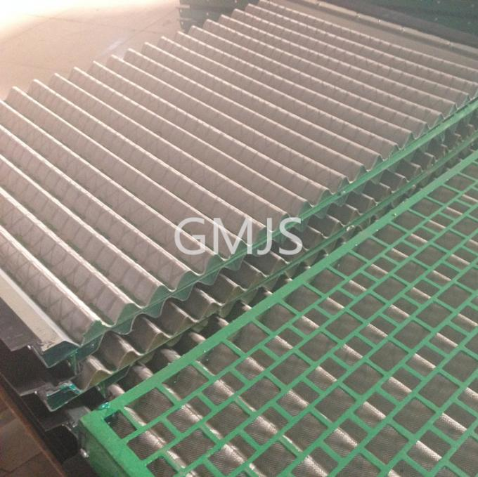 Durable FLC500 Series Vibrating Screen Wire Mesh 695x1050mm Wave Type
